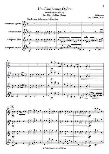 Un Cauchemar Opéra - Quatuor de Saxophones - ARNDT F. - app.scorescoreTitle