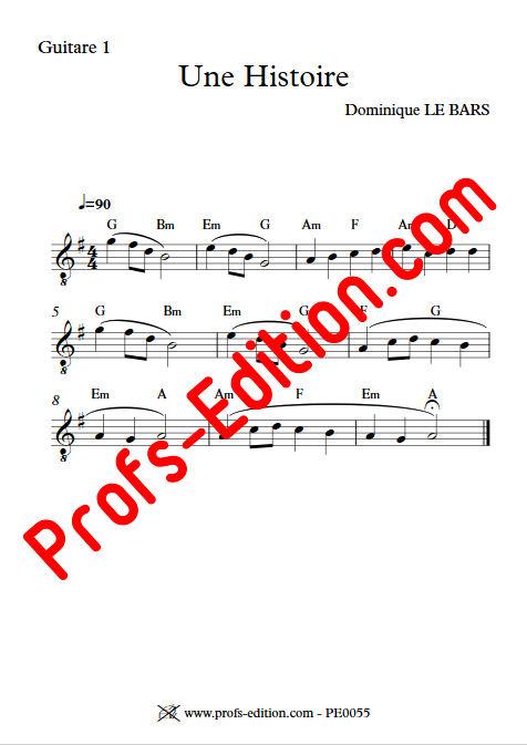 Une Histoire - Trios Guitare - LE BARS D. - Partition