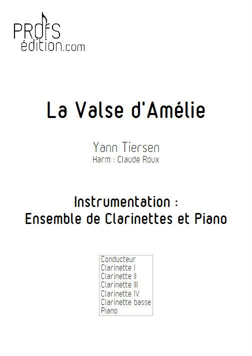 La Valse d'Amélie Poulain - Ensemble de Clarinettes - TIERSEN Yann - page de garde