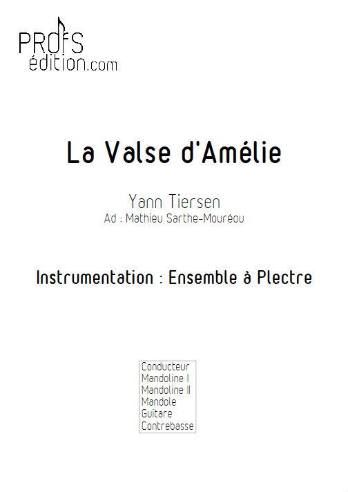 La Valse d'Amélie Poulain - Ensemble Plectres - TIERSEN Y. - page de garde