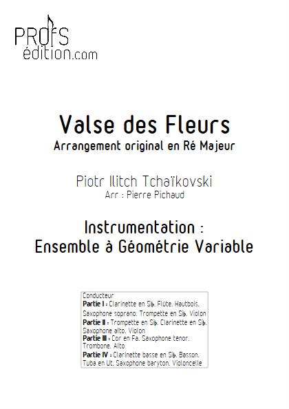 Valse des Fleurs - Ensemble à Géométrie Variable - TCHAIKOVSKY P. I. - page de garde