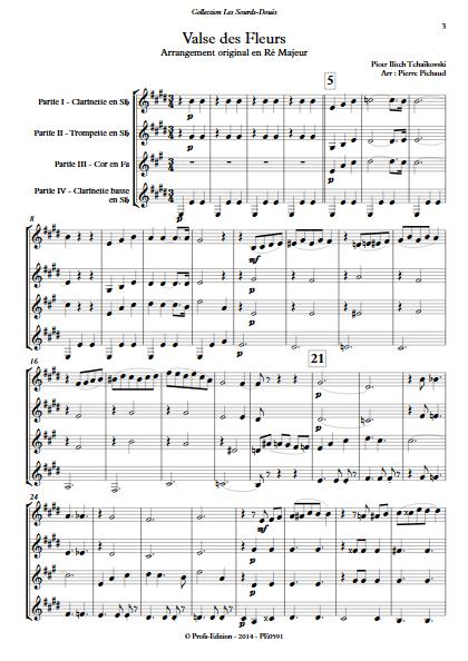 Valse des Fleurs - Ensemble à Géométrie Variable - TCHAIKOVSKY P. I. - Partition
