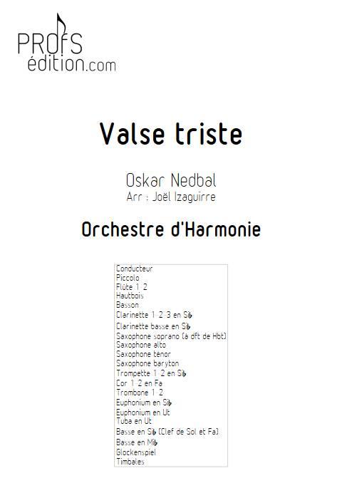 Valse triste - Orchestre d'Harmonie - NEBDAL O. - page de garde