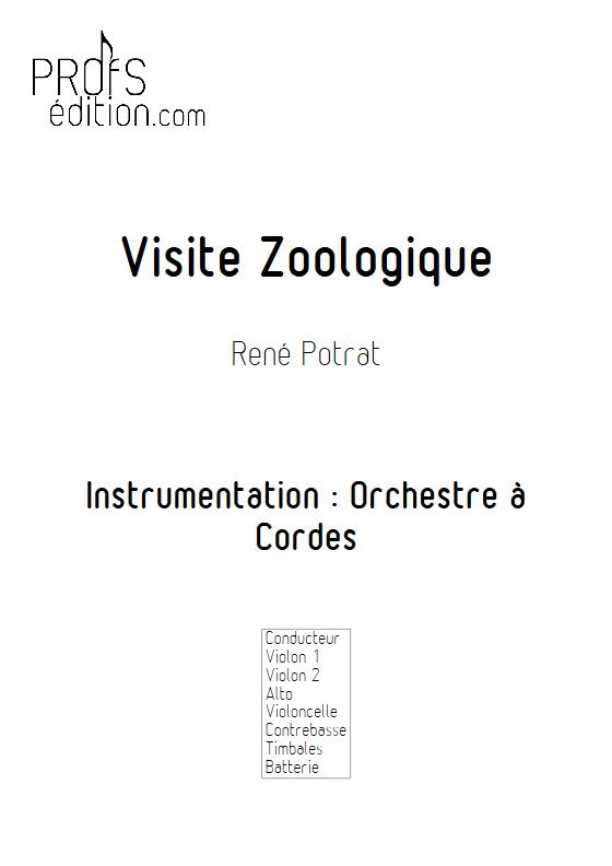 Visite Zoologique - Orchestre à Cordes - POTRAT R. - page de garde