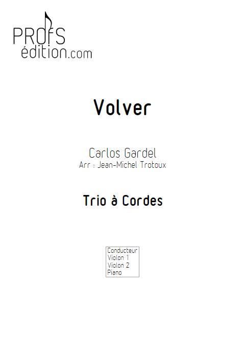 Volver - Duo Violon et Piano - GARDEL C. - page de garde