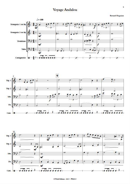 Voyage Andalou - Quatuor de Cuivres - DEQUEANT B. - Partition